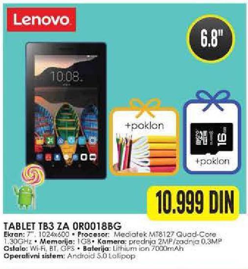 Tablet TB3 ZA 0R0018BG