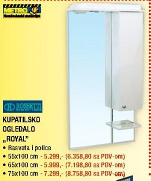 """Kupatilsko ogledalo """"Royal"""""""