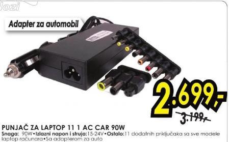 Punjač za laptop 11 1 Ac Car 90W Intex