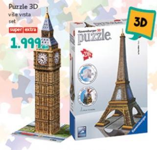 Igračka puzzle 3D više vrsta
