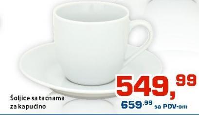 Šolja za kafu sa tacnom