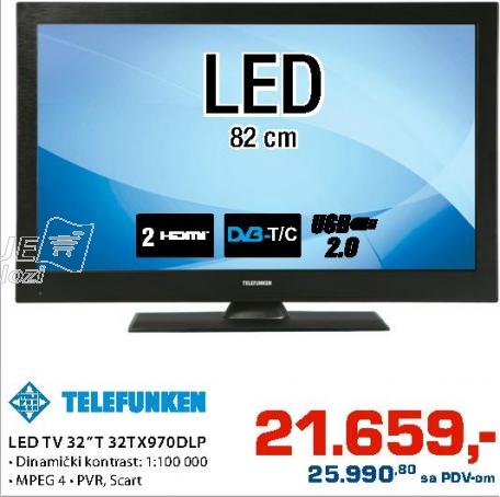 """LED Tv 32"""" 32Tx 970Dlp"""