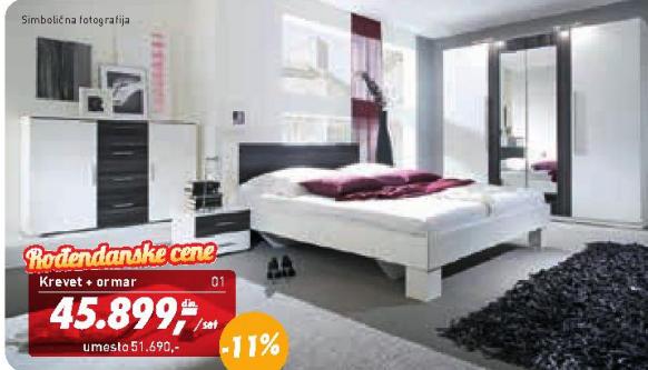Krevet + ormar , spavaća soba ''Vera''