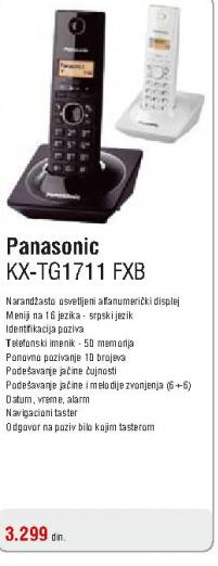 Telefon bežični KX-TG1711 FXB