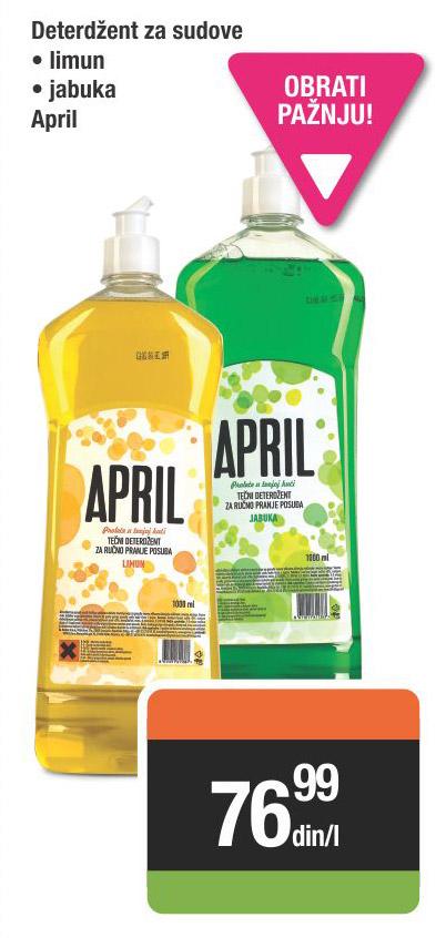 Deterdžent za sudove April limun