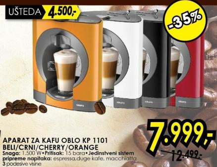 Aparat za kafu Oblo Kp 1101 Beli/Crni/Cherry/Orange