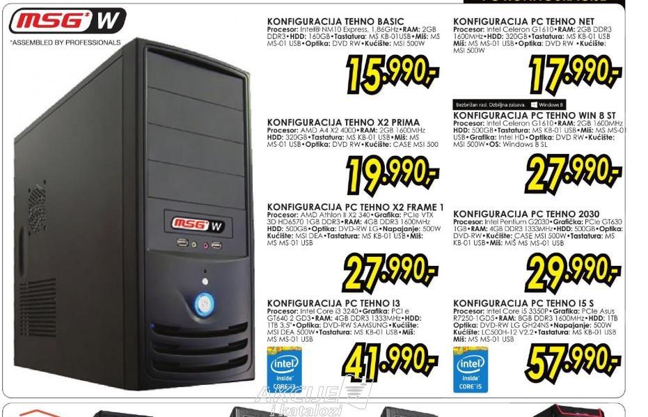 Konfiguracija PC TEHNO I5 S