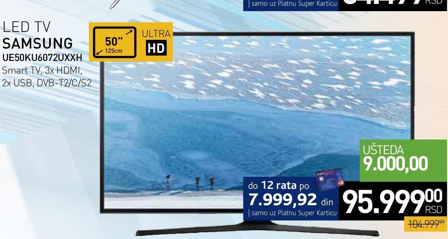 """Televizor LED 50"""" UE50KU6072UXXH"""