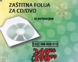 Zaštitana folija za CD ili DVD