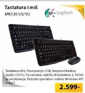 Komplet tastatura i miš bežični MK120