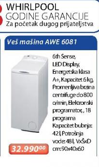 Veš Mašina Awe 6081