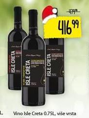 Crno vino Isle Creta