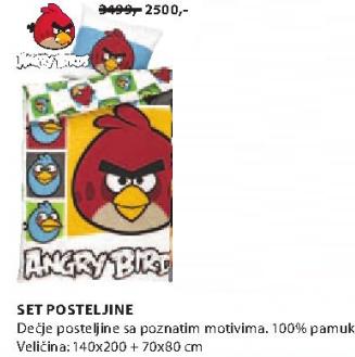 Set dečije poosteljine, Angry Bird