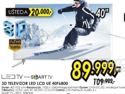 """Televizor LED 40"""" 3D UE40F6800"""