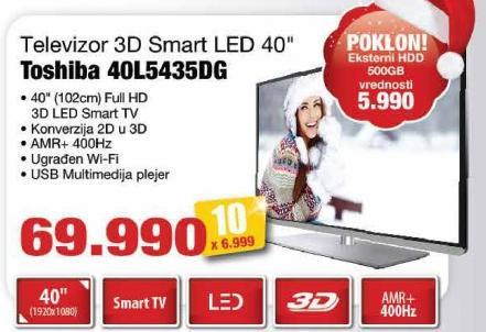 """Televizor LED 40"""" 3D 40l5435dg"""