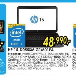 Laptop 15-d055sm G1M01EA