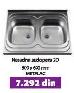 Nasadna sudopera 2D