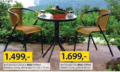 Baštenska stolica PARMA