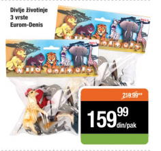 Igračka Divlje životinje - Eurom-Denis