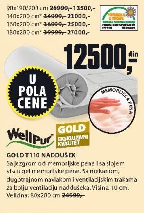 Naddušek Gold T110 80x200