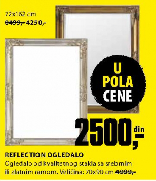 Ogledalo Reflection 70x90 cm