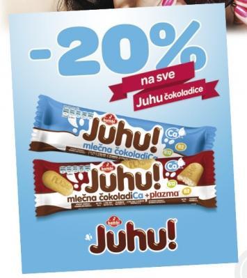 20% popusta na sve Juhu čokoladice