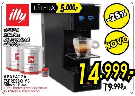 Aparat za Espresso Y3 Illy