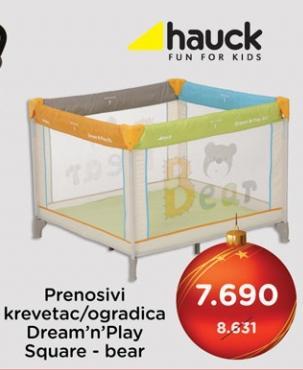Prenosivi krevetac/ogradica Dream n Play Aquare Bear Hauck