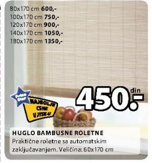 Bambusne roletne Huglo 80x170 cm
