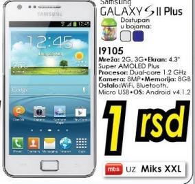 Mobilni telefon Galaxy S II Plus i9105