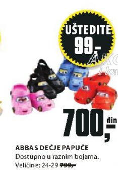 Papuče Abbas dečije