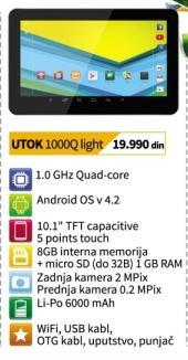 Tablet 1000q Light Utok