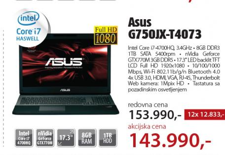 Laptop  G750JX-T4073