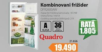 Kombinovani frižider 1.44m/ 48l-187l DFR2600AW
