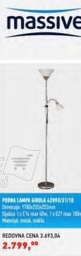 Podna lampa Girola