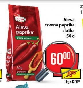 Mlevena začinska paprika slatka
