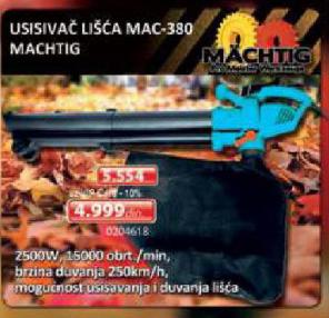 Usisivač lišća MAC-380