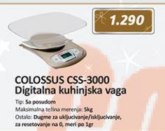 digitalna kuhinjska vaga CSS-3000