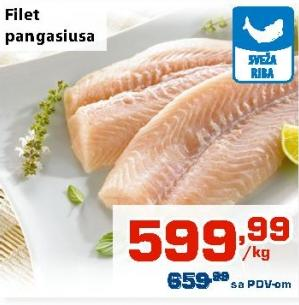 Riba pangasius filet