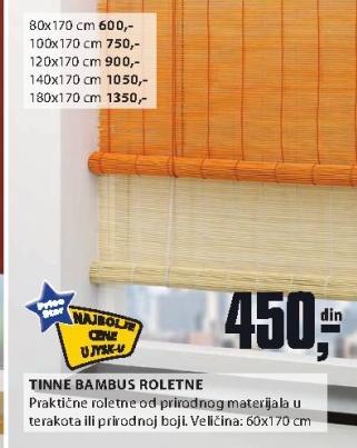 Tinne bambus roletne