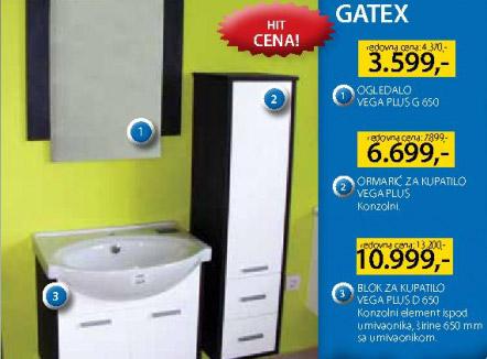 Ormarić za kupatilo Vega Plus Gatex
