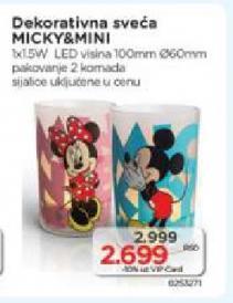 Dekorativna sveća Micky and Mini