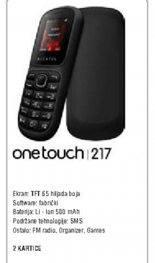 Mobilni One Touch Simple 217