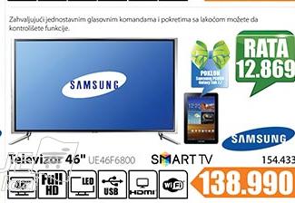 Televizor  LED Smart 3D UE46F6800