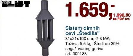 Sistem dimnih cevi Štediša Blist