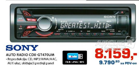 Auto radio CDXGT470UM
