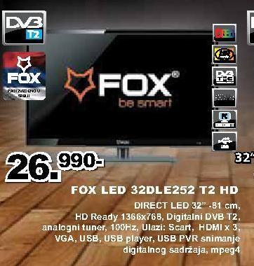 "Televizor LED 32"" 32DLE252 T2"
