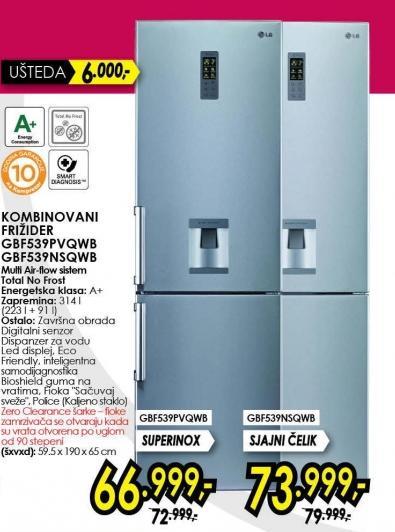 Kombinovani frižider Gbf539nsqwb