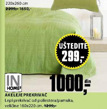 Prekrivač Akeleje 220x260 cm