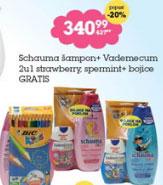 Schauma šampon + Vademecum 2u1 strawberry, spermint + bojice gratis